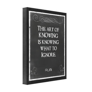 Chalkboard Typography with an Inspirational Quote Stretched Canvas Print
