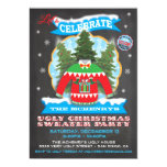 Chalkboard Ugly Christmas Sweater Invitations 13 Cm X 18 Cm Invitation Card