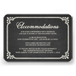Chalkboard Union | Accommodation Enclosure Card