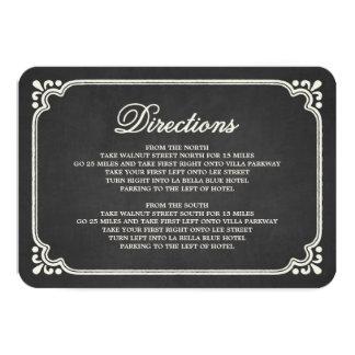 Chalkboard Union | Direction Enclosure Card 9 Cm X 13 Cm Invitation Card