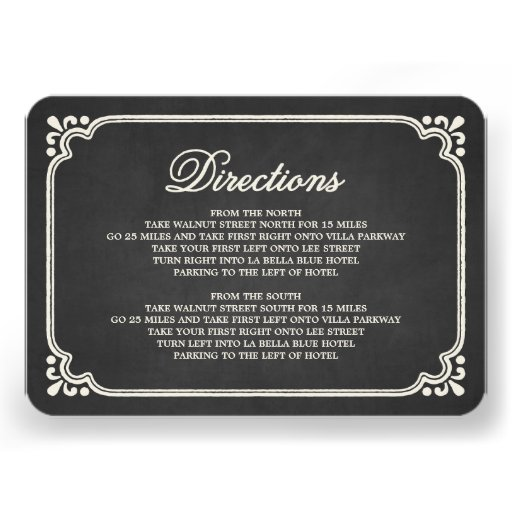 Chalkboard Union | Direction Enclosure Card