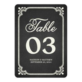 Chalkboard Union   Table Numbers 13 Cm X 18 Cm Invitation Card