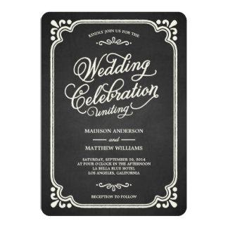 Chalkboard Union   Wedding Invitation