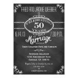 Chalkboard Vintage 50th Anniversary Invitation