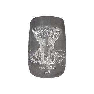 chalkboard vintage corset minx ® nail art