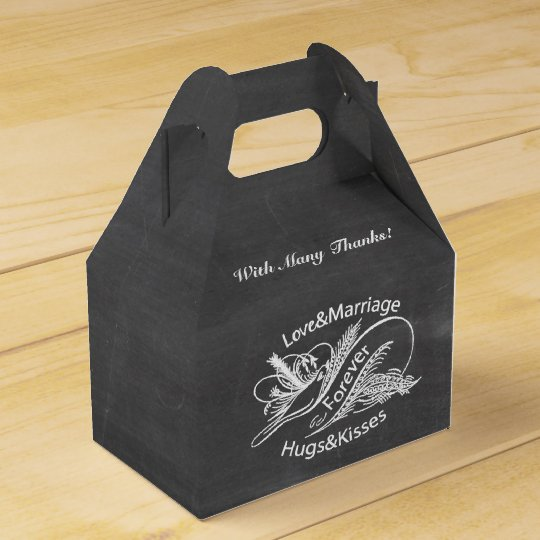 Chalkboard Vintage Dove Personalised Favour Box