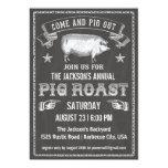 Chalkboard Vintage Pig Roast Invitation