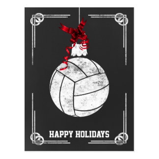 chalkboard volleyball  player Christmas Cards