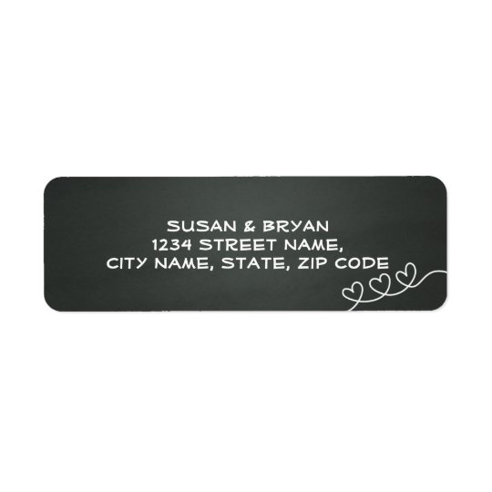 Chalkboard Wedding Address Label