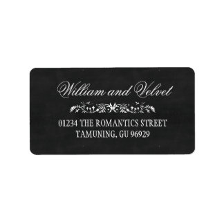 Chalkboard Wedding Address Labels