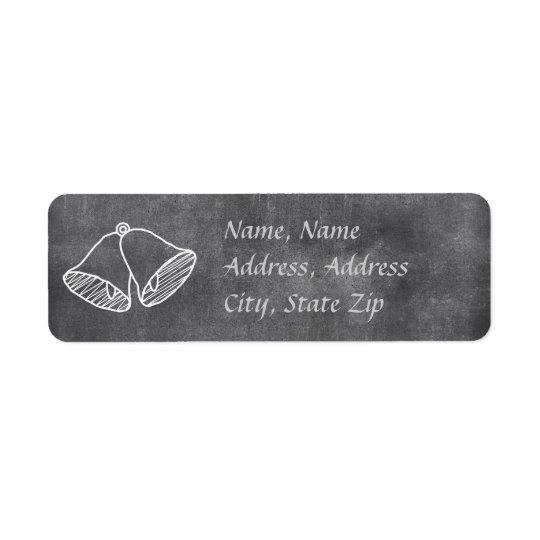 Chalkboard Wedding Bell Address Label