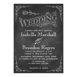 Chalkboard Wedding Invitation