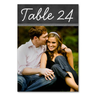 Chalkboard Wedding Photo Table Number Card Table Card