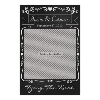 Chalkboard Wedding Prop Poster for Photo Booth