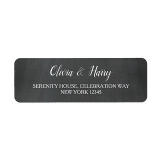 Chalkboard | Wedding Return Address Labels