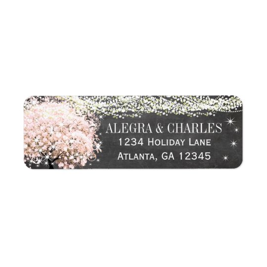 Chalkboard Wedding Return Address Return Address Label