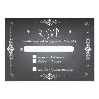 Chalkboard Wedding RSVP Response Card