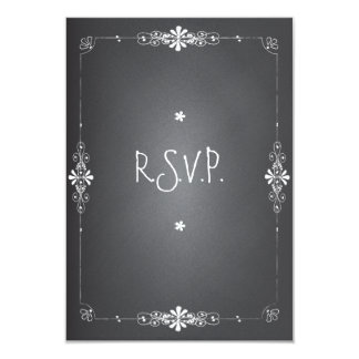 Chalkboard Wedding RSVP Response Card 9 Cm X 13 Cm Invitation Card