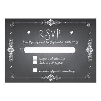 Chalkboard Wedding RSVP Response Card