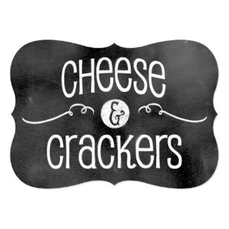 Chalkboard Wedding Sign: Cheese & Crackers Invites