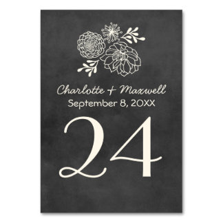Chalkboard Wedding Table Number Card Tablecard Table Cards