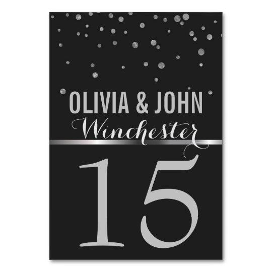 Chalkboard Wedding Table Numbers | Silver Confetti