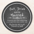 Chalkboard Wedding Thank You Favour Paper Coaster