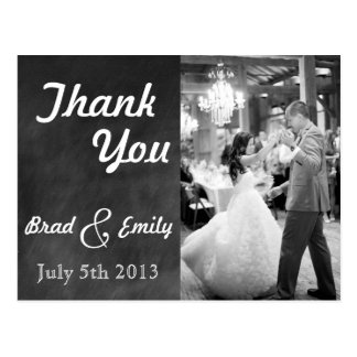 Chalkboard Wedding Thank You Postcard