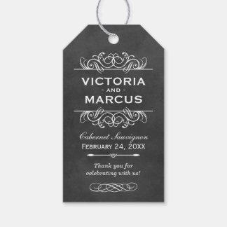 Chalkboard Wedding Wine Bottle Monogram Favour