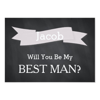 Chalkboard Will You Be Our Best Man Card