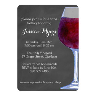 Chalkboard Wine Invitation