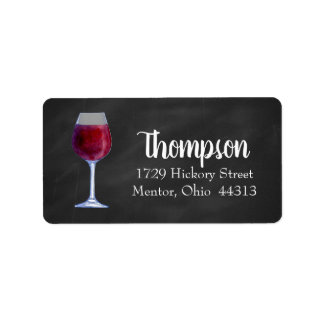 Chalkboard Wine Personalised Address Labels