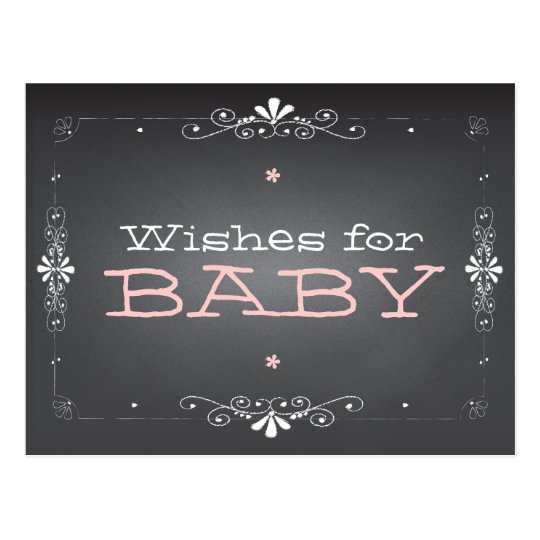 Chalkboard Wishes for Baby Shower Activity Card