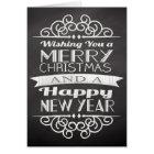 Chalkboard Wishing You Merry Christmas Card