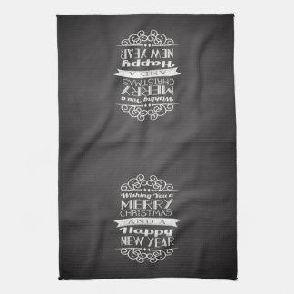 Chalkboard Wishing You Merry Christmas Towels
