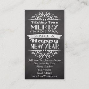 Christmas business cards zazzle uk chalkboard wishing you merry christmas business card colourmoves