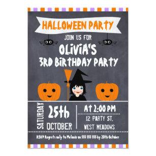 Halloween Birthday Invitations Zazzle UK