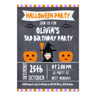 Halloween Birthday Invitations & Announcements | Zazzle.co.uk