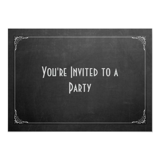 Chalkboard with Famcy Border Generic Party Card