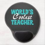 Chalkboard World's Coolest Teacher Gel Mousepad