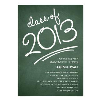 Chalkboard Writing Graduation Invitation Custom Invites