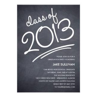 Chalkboard Writing Graduation Invitation Invites