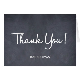 Chalkboard Writing Thank You Card