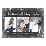 Chalked Snowflakes Holiday Photo Card 13 Cm X 18 Cm Invitation Card