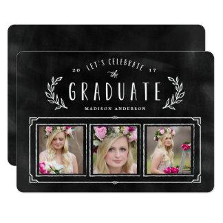 Chalked Wreath Graduation Invitation