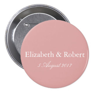 Chalky Pastel Pink Wedding Decoration 7.5 Cm Round Badge