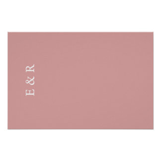 Chalky Pastel Pink Wedding Decoration Poster