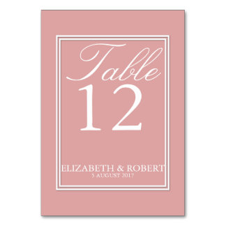 Chalky Pastel Pink Wedding Invitation Set Table Card