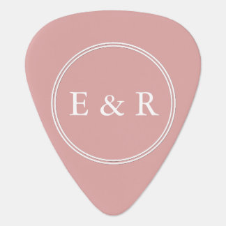 Chalky Pastel Pink Wedding Party Set Plectrum