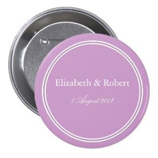 Chalky Pastel Violet Wedding Decoration Set 7.5 Cm Round Badge